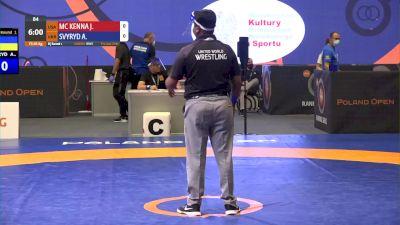 65kg Match - Joey McKenna, USA vs Andrii Svyryd, UKR