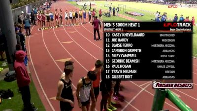 Men's 5k, Heat 1 - Evan Jager Holds Off Late Charge From Isaac Kimeli