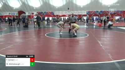 174 lbs Consolation - Fritz Schierl, Ohio State vs Max Wohlabaugh, Clarion