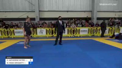 ELIZABETH KATHERINE MITROVIC vs MARGARET ROSE GRINDATTI 2021 Pan IBJJF Jiu-Jitsu No-Gi Championship