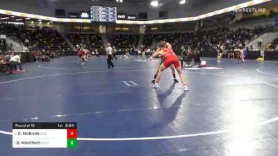 184 lbs Prelims - Griffin McBride, Central College vs Brock Montford, North Central College