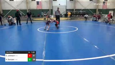 55 lbs 3rd Place - Cole Johnson, Chaparral Wrestling Club vs Henry Duncan, CIWC