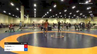 97 kg 3rd Place - Kobe Woods, Burg Training Center vs Jacob Boyd, Unattached