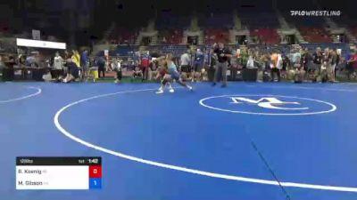 126 lbs Round Of 32 - Rhett Koenig, Wisconsin vs Mason Gibson, Pennsylvania
