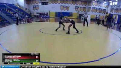 80 lbs 1st Place Match - Elijah Castanon, Miami Wrestling Club vs Keagan Mesina, Mater Lakes