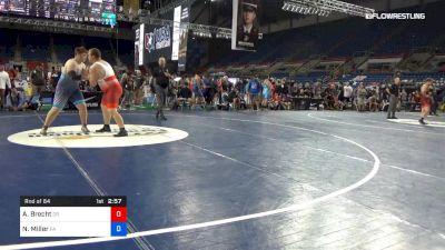 285 lbs Rnd Of 64 - Ashton Brecht, Oregon vs Nate Miller, Pennsylvania