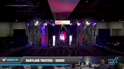 Maryland Twisters - Sirens [2021 L4 Senior - Small Day 2] 2021 Queen of the Nile: Richmond