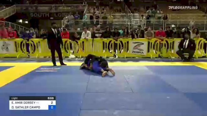 ELIJAH AMIR DORSEY vs DANIEL SATHLER CAMPOS 2021 Pan Jiu-Jitsu IBJJF Championship