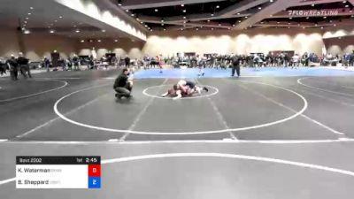 57 kg Prelims - Kyle Waterman, Pennsylvania RTC vs Blake Sheppard, Compound Wrestling - Great Lakes