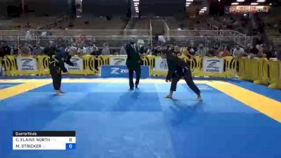 CLAIRE ELAINE NORTH vs MELISSA STRICKER 2020 Pan Jiu-Jitsu IBJJF Championship