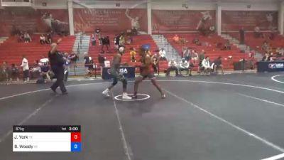 67 kg Consolation - Jaylen York, Texas vs Brandon Woody, Virginia