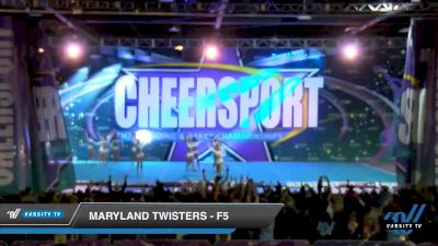 Maryland Twisters - F5 [2020 Senior Large 6 Day 2] 2020 CHEERSPORT National Cheerleading Championship