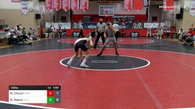 126 lbs Final - Mac Church, Waynesburg vs Matt Repos, Central Dauphin