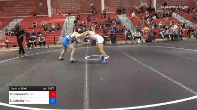 74 kg Consolation - David Berkovich, New York City RTC vs Sammy Cokeley, Indiana RTC