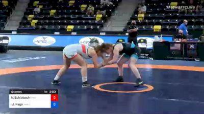 62 kg Quarterfinal - Andrea Schlabach, Unattached vs Jennifer Page, TMWC / NLWC