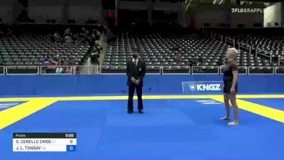 SHARON CERELLE EMDE vs JANUARY L. TONGAY 2021 World IBJJF Jiu-Jitsu No-Gi Championship