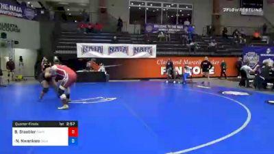 191 lbs Quarterfinal - Brianna Staebler, Campbellsville vs Nkechinyere Nwankwo, Oklahoma City
