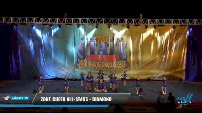Zone Cheer All-Stars - Diamond [2021 L1 Mini - D2 Day 2] 2021 The STATE DI & DII Championships