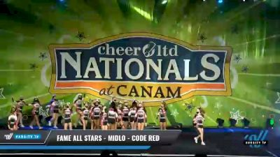 FAME All Stars - Midlo - Code Red [2021 L3 Senior - Small Day 1] 2021 Cheer Ltd Nationals at CANAM