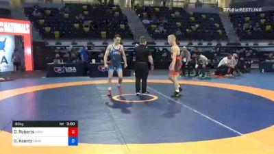 60 kg Final - Dalton Roberts, Army (WCAP) vs Dylan Koontz, TMWC/ Ohio Regional Training Center