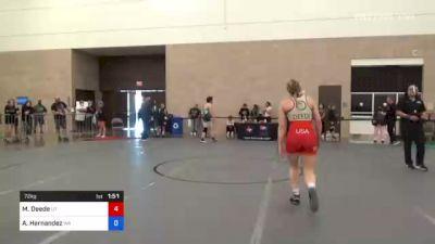 76 kg Consolation - Avery Ackerman, Wa vs Ashley Lekas, Tx
