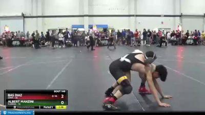 145 lbs Champ. Round 1 - Albert Manzini, Florida vs Bas Diaz, Iowa