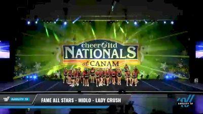 FAME All Stars - Midlo - Lady Crush [2021 L4 Senior - Medium Day 2] 2021 Cheer Ltd Nationals at CANAM