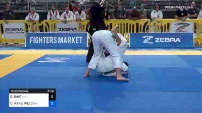 GEETA BHAT vs CASIDY MARIE WELCH 2020 World Master IBJJF Jiu-Jitsu Championship