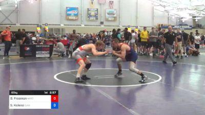 65 kg Round Of 32 - Ben Freeman, Michigan Regional Training Center vs Seth Koleno, Clarion RTC