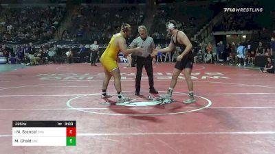 285 lbs Prelims - Matt Stencel, Central Michigan vs Mark Chaid, North Carolina