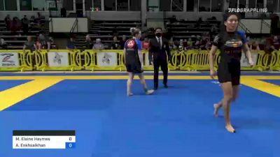 Madelyn Elaine Haymes vs Ariun Enkhsaikhan 2021 Pan IBJJF Jiu-Jitsu No-Gi Championship
