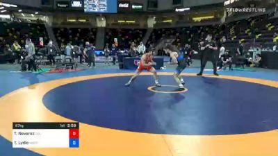 67 kg 7th Place - Timothy Nevarez, California vs Ty Lydic, Westmoreland County Wrestling Club
