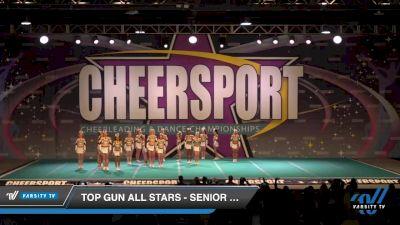 Top Gun All Stars - Senior White [2020 Senior 1 Day 1] 2020 CHEERSPORT National Cheerleading Championship