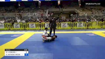 GABRIEL V. RIBEIRO vs KELLEN ANTHONY MESINA 2021 Pan Kids Jiu-Jitsu IBJJF Championship