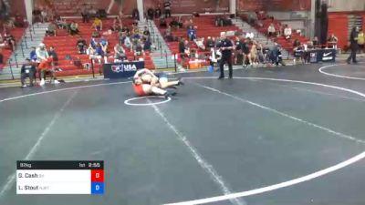 92 kg Prelims - Gunner Cash, Oklahoma vs Luke Stout, New Jersey RTC