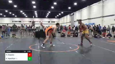 285 lbs Semifinal - Hayden Copass, IL vs Kyonte Hamilton, MD