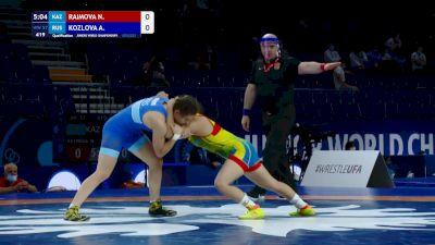 57 kg Qualif. - Nilufar Raimova, KAZ vs Anastasiia Kozlova, RUS