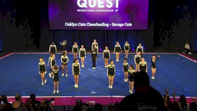 Oaklyn Cats Cheerleading - Savage Cats [2020 L3 Performance Rec - Non-Affiliated (14Y)] 2020 The Quest