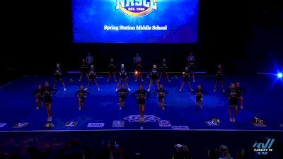 Spring Station Middle School [2019 Large Junior High Semis] 2019 UCA National High School Cheerleading Championship