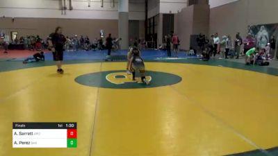 100 lbs Final - Arianna Sarrett, Arizona vs Avy Perez, San Fernando Tigers Wrestling Club