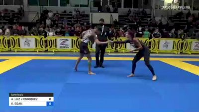 ALEXANDRIA LUZ V ENRIQUEZ vs KATHLEEN EGAN 2021 Pan IBJJF Jiu-Jitsu No-Gi Championship