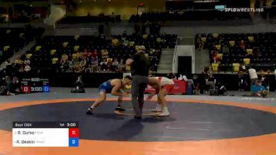 74 kg Consolation - Rick Durso, Pennsylvania RTC vs Ryan Deakin, TMWC / Wildcat Wrestling Club