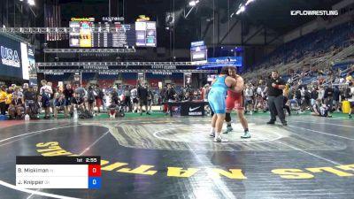 285 lbs Rnd Of 64 - Brody Miskimon, Indiana vs Justin Knipper, Ohio