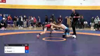 57 kg Round Of 16 - Nathan Rankin, River Valley Wrestling Club vs Sean Russell, Gopher Wrestling Club - RTC