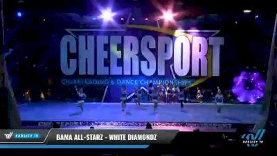 Bama All-Starz - White Diamondz [2021 L2 Youth - Small - A Day 1] 2021 CHEERSPORT National Cheerleading Championship