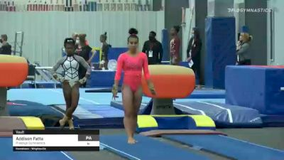 Addison Fatta - Vault, Prestige Gymnastics - 2021 American Classic and Hopes Classic