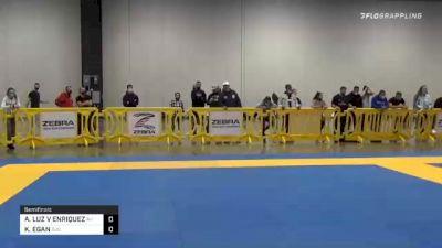 ALEXANDRIA LUZ V ENRIQUEZ vs KATHLEEN EGAN 2020 IBJJF Pan No-Gi Championship
