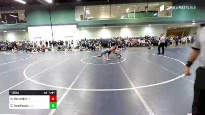 132 lbs Round Of 128 - Nic Bouzakis, PA vs Devin Avedissian, CA