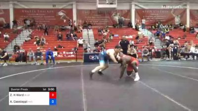 125 kg Quarterfinal - Zachary Knighton-Ward, Blue & Gold Wrestling Club vs Anthony Cassioppi, Hawkeye Wrestling Club