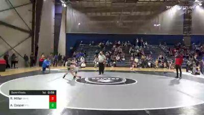 68 lbs Semifinal - Ryan Miller, Brookwood Broncos Youth Wrestling vs Andrew Cooper, PTC Youth Wrestling